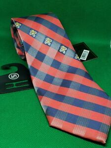 """florida panthers Check neck tie nwt red white blue 58"""" × 3 1/2"""" nhl tie"""