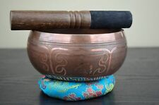 "Brass Singing Bowl Nepal Meditation Free Cushion & Mallet 5.5"" Free Shipping"