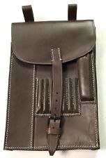WWII GERMAN OFFICER M35 MAP BROWN LEATHER MAP CASE