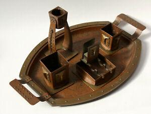Raucherset,Art Nouveau,copper brass,handmade,Arts and Crafts,smokeset,Roycroft ?
