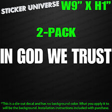 (2-PK) IN GOD WE TRUST Religious Religion Jesus Christian Car Window Decal Stick