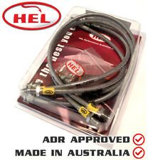 HEL Braided BRAKE Lines FORD Escort MK2 1.6 Front Discs / Rear Drums 75-80