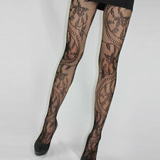 Sexy Women Jacquard Lace Hollow Floral Pantyhose Tights Stocking Hosiery Gift