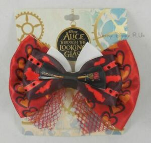 Disney Alice In Wonderland Through Looking Glass Red Queen Cosplay Hair Bow Clip