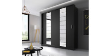 Wardrobe Bedroom Wardrobe Sliding Door Cabinet Arti Black Matte