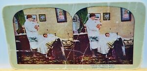 Antique Stereoview Card - Oft in the Stilly Night