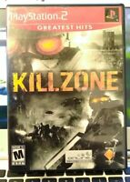 Killzone.  PS2 Game. PlayStation 2. Greatest Hits. Video Game. Tested Working
