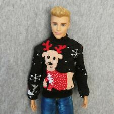 "Handmade doll clothes Christmas sweater for 12"" ken dolls"