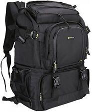 Cámara SLR Evecase Extra Grande D/ordenador portátil mochila de viaje Bolsa De Gadget con lluvia