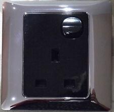 1 G SW SOCKET BLACK C/W CHROME SURROUND-NEWLEC/ALTO/WICKES