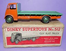 * VINTAGE * 1947-1954 * DINKY TOYS * NO 512 * GUY FLAT TRUCK IN ORIGINAL BOX *