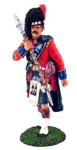 BRITAINS MUSEUM COLLECTION 10007 BLACK WATCH PIPE & DRUMS DRUM MAJOR MIB