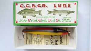 C.C.B.CO. Creek Chub Pikie #1725 or yllw silver scale fish lure Limited Edition
