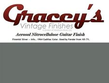 -Firemist Silver- Gracey's Vintage Finishes Nitrocellulose Guitar Lacquer.