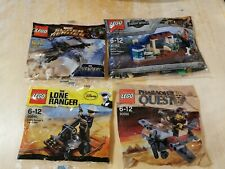 Lego Jurassic World Dinosaur Marvel Superheroes Lone Ranger Pharohs Quest Bundle
