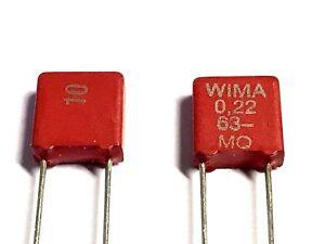 nuevo 20/% 3,3uf rm 22,5mm 20 x diapositivas condensador 100v