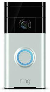 Ring Video Doorbell (2nd Gen) - Satin Nickel  1 YEAR WARRANTY