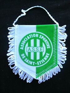 ASSE AS SAINT-ETIENNE LES VERTS  fanion wimpel pennant football ancien annees 90