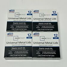 Mainstay Universal Regular Mouth Canning Lids 4 Pack = 48 Total Lids FAST SHIP