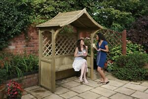 Dartmouth BBQ Party Arbour Garden Seat Bench Pressure Treated