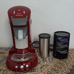 Philips HD 7850 Senseo latte Select Kaffeepadmaschine,Milchaufschäumer,Rot