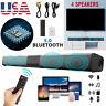 Bluetooth Sound Bar Wired Wireless Bass Subwoofer Home Theater TV Speaker Remote