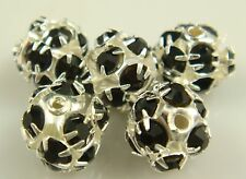 5pcs Silver Spacer Rhinestone Spacer Bead Decorative Accessories 8mm w95S