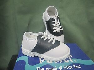 NIB SADDLE SHOES Boys or Girls Infant/Toddler WHITE/BLACK Size 1-10