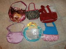 Lot of 6 Different Purses/Carriers Backpack DISNEY WEBKINZ GANZ