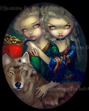 Jasmine Becket-Griffith art print SIGNED Loup-Garou: Les Jumeaux werewolf twins