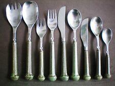 Denby Regency Ribbed Dark Green Cutlery Dinner Dessert Knife Fork Spoon