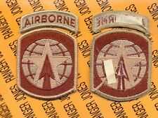 US Army 16th Military Police Airborne MP Brigade Desert DCU uniform patch