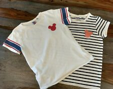 Lot of two Junk Food Mickey mouse t-shirts, size L/ girls