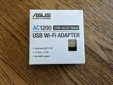 ASUS - Dual-Band AC1200 USB Network Adapter - Black