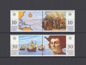 CYPRUS (GR), EUROPA CEPT 1992, DISCOVERY of AMERICA, MNH