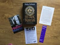 Northern Lights, Subtle Knife, Amber Spyglass by Philip Pullman Hardback Signed