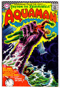 AQUAMAN #32 in FN/VF condition a 1966 DC silver age comic with MERA & AQUALAD