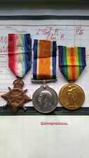 WW1 1914-15 Star Trio PTE William Harrison Liverpool Regiment /Cheshire Regiment