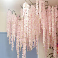 Flower Vine Hanging Flower for Wall Decor Rattan Fake Garland Wedding Home Decor