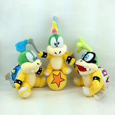3X New Super Mario Bros Koopalings Plush Lemmy Iggy Larry Koopa Bowser Toy Doll
