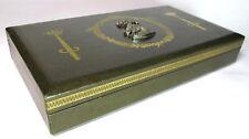 Vtg Swank men's jewelry box by Design Philipp Sweden 1960s green