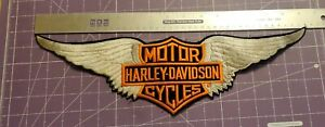 """16 1/2"""" Harley-Davidson wing jacket patch Official Licensed Product"""