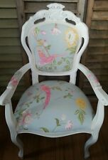 Laura Ashley 'Summer Palace in duck egg cerise carver chair