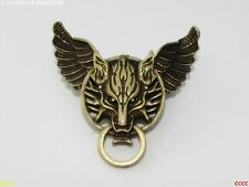 Steampunk brooch badge owl wings bronze wolf flying Harry Potter final fantasy