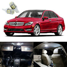 18 x Xenon White LED Interior Light Package Kit For Mercedes C Class 2008 - 2014