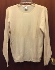 Woman TABLOTS cream Crewneck Merino Wool L/s Pullover Sweater Sz Medium