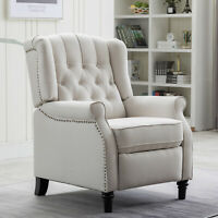 Elizabeth Accent Recliner Chair Push Back Padded Seat Roll Arm Sofa Living Room