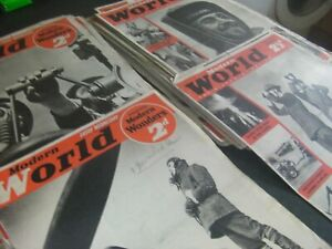 45 copies of MODERN WORLD PICTORIAL REVIEW MAGAZINE. 1940/41. Historic WW2