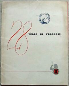 INDIA TYRE & RUBBER COMPANY 28 YEARS OF PROGRESS Publicity Brochure 1956