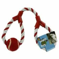 Dog Rope Toy, Red and White